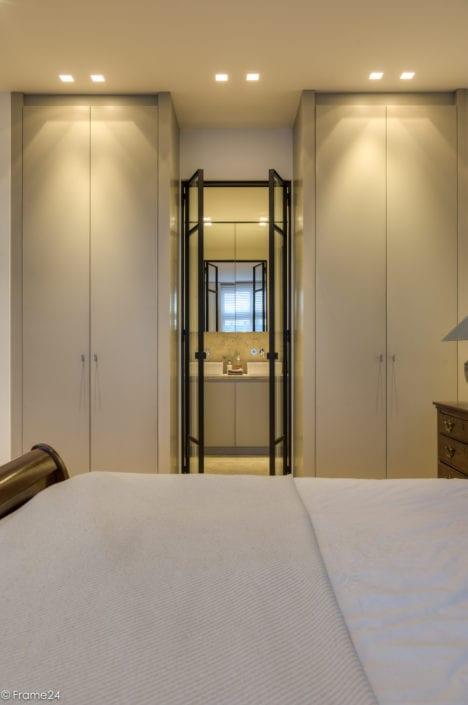 Master bedroom and bathroom